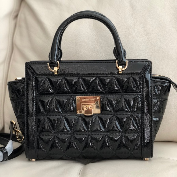 53a5ffc659a MICHAEL KORS VIVIANNE SM SATCHEL QUILTED LEATHER